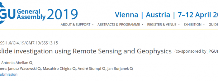 2018.11 | Call for abstracts EGU session | Landslide investigation using Remote Sensing and Geophysics